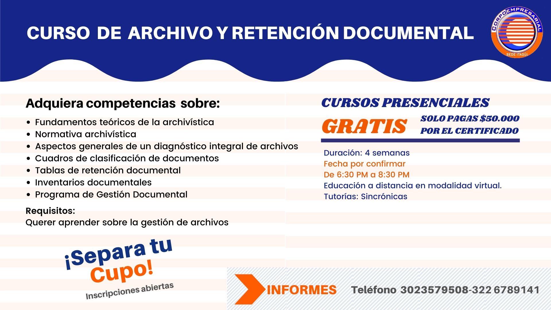 Taller de archivos y gestión documental